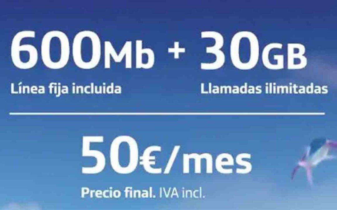 Tarifa O2 600Mb + 30GB