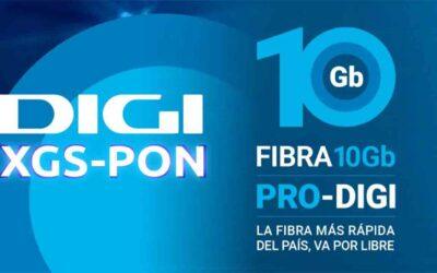 Digi se adelanta a todas las operadoras y lanza la fibra 10GB